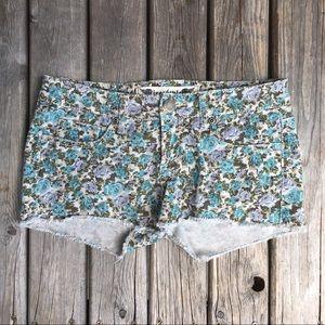 💥5/$25 Freestyle TURQ Print Jean Shorts